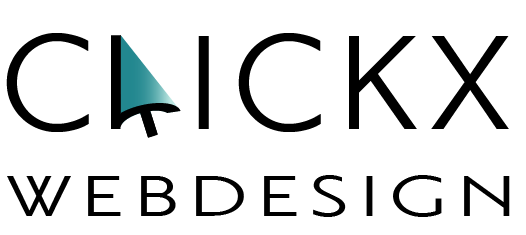 Clickx Webdesign logo zwart